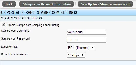 shipping label format