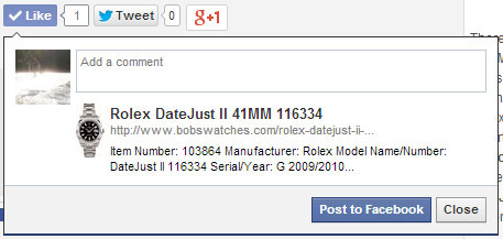 Facebook Share with Open Graph data
