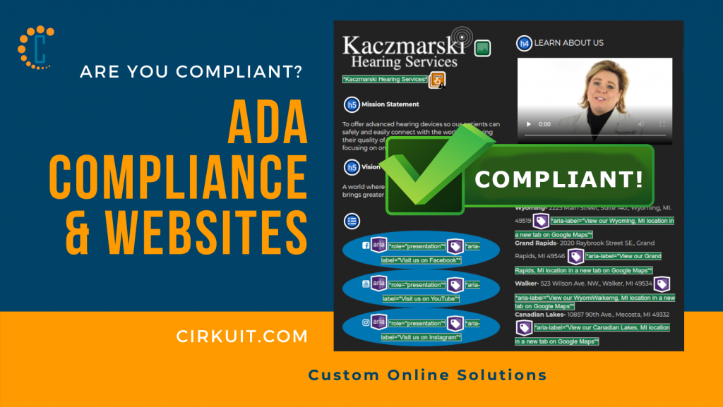 Contact Cirkuit.com regarding ADA Compliance & Websites